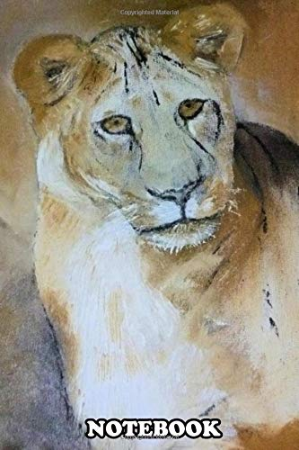 Notebook: Lion As Part Of A Collection Original Is Oil Paint On , Journal for Writing, College Ruled Size 6