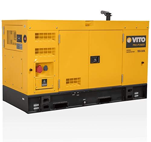 VITO Professional Silent 15kVA / 12 KW SUPER LEISE Diesel Stromerzeuger 400V AC 50Hz / 230V AC 50Hz Notstromaggregat Generator (VIGD15ST 15kVA)