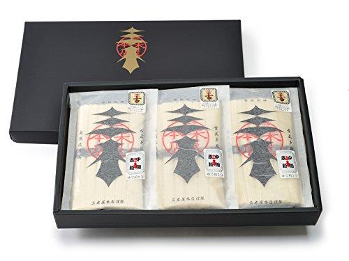 絹肌の貴婦人 古物 手延素麺 極細 黒金帯 50g×6束×6袋 化粧箱