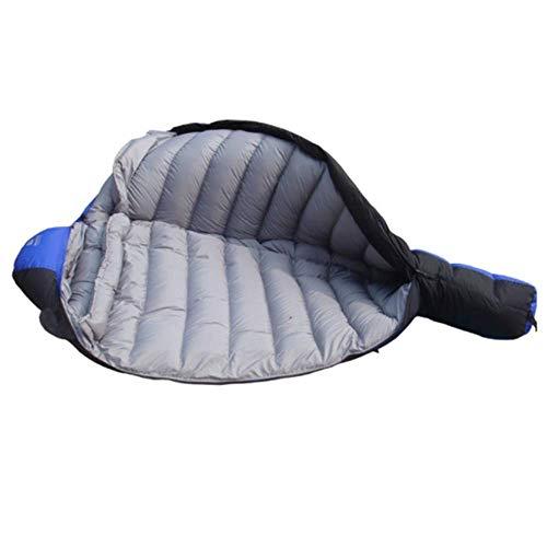 FKB@ED Saco de dormir para adultos, sacos de dormir de invierno para acampar, sacos de dormir sobres extra cálidos con saco de compresión para caminatas con mochila, azul