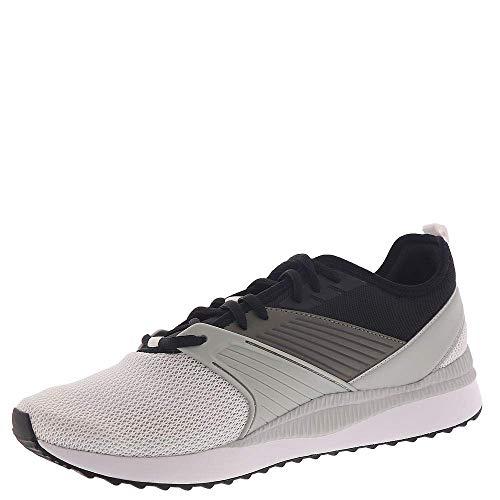 PUMA mens Pacer Next Ffwd road running shoes, Puma White-puma Black-high Rise-high Risk Red, 14 US