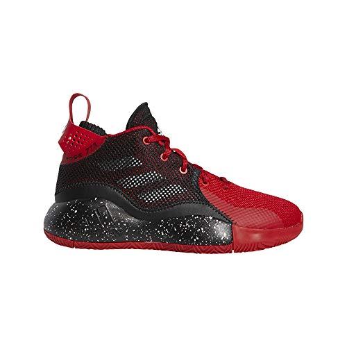 adidas Unisex D Rose 773 2020 J Sneaker, Escarl/Negbás/Ftwbla, 36 EU