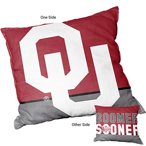 College Flags & Banners Co. Oklahoma Sooners Boomer Sooner Logo Pillow