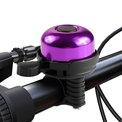 Paliston Fahrradklingel Aluminum Fahrradklingel für Erwachsene Kinder Jungen Mädchen Stil 1 Lila