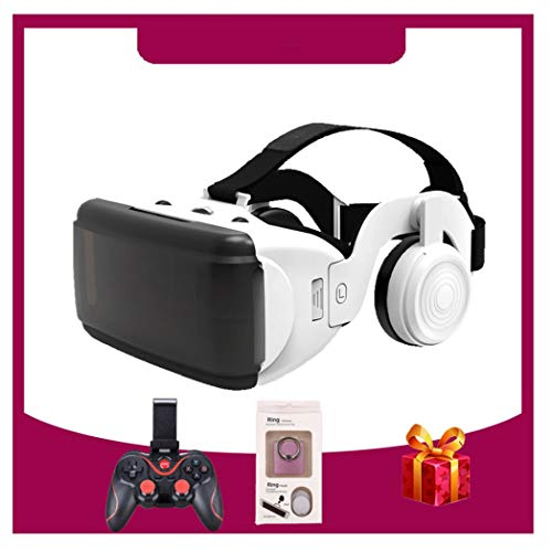 ZJJY VR Headsets, Virtual Reality Headset, Bluetooth Controller for iPhone 11/Pro/X/Xs/Max/XR/8P/7P,for Samsung S20/S10/S9/S8/Plus/Note 10/9/8,Phones w/ 4.7-6.5in Screen, L048xq