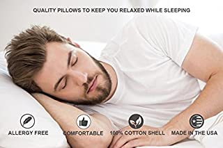 Continental Bedding P5050-Q Better Down Blend Pillow, White Goose Down & 50% Feather, Queen Size