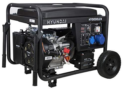 Hyundai HY-HY9000LEK Generador gasolina monofásico, 7.2 W, 230 V, Negro
