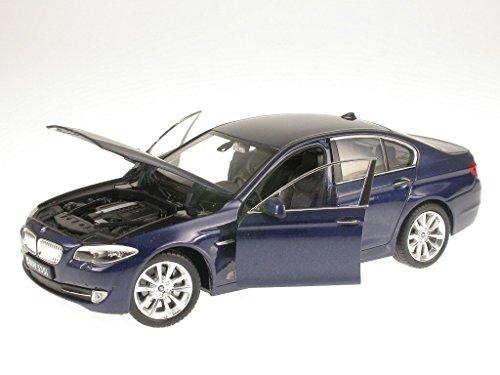 BMW F10 535i 5er Reihe blau Modellauto Welly 1:24