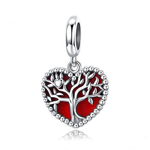 MICORY 925 Sterling Silber Damen Herz Charm Bead Anhänger für Pandora Armbänder und Halskette