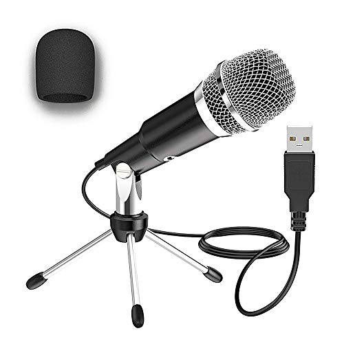 EZGETOP USB 2.0-Mikrofon Ideal für Videoanrufe oder Online-Kurse, USB Plug & Play Home Studio-Kondensatormikrofon für Skype, Aufnahmen für YouTube, Google Sprachsuche, Spiele