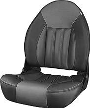 Tempress ProBax Orthopedic Folding High Back Boat Seat (Black/Charcoal/Carbon)