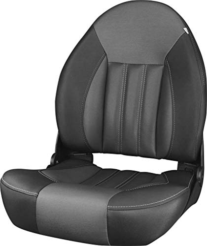 Tempress ProBax Orthopedic Folding High Back Boat Seat (Black/Charcoal/Carbon)