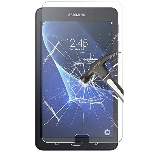 SS Tech Protector de pantalla de vidrio templado para Galaxy Tab A 10.1 pulgadas, Galaxy Tab A 10.1 (SM-T580/SM-T581/SM-T585) de vidrio templado [alta definición][sin burbujas] [dureza 9H]