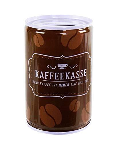 Anik-Shop SPARDOSE 10,5cm Metall Sparschwein Geldkassette Geldspardose Sparbüchse Gelddose Geschenk 6-Varianten 94 (Kaffeekasse)