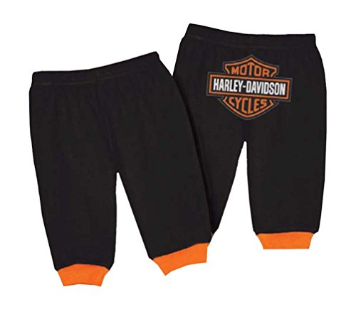 Harley-Davidson Baby Boys' Interlock Bar & Shield Pants, Black 4050601 (18M)