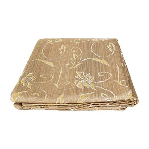 Funda para sofá con lazos de 2, 3 y 4 plazas, de algodón, color liso, para sofá, varios colores (flores, beige oscuro, 4 plazas)