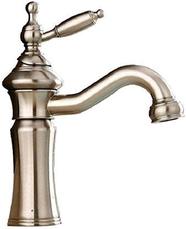 BH-JJSMGS einhand bad waschbecken wasserhahnmassivemmessing waschbecken wasserhahn, waschbecken waschbecken wasserhahn arbeitsplatte einlochmontage(nickel gebürstet)