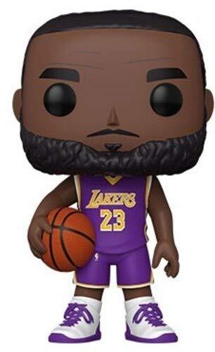Funko- Pop Lakers-10 NBA 10' Lebron James(Purple Jersey) Figura da Collezione, Multicolore, 52359