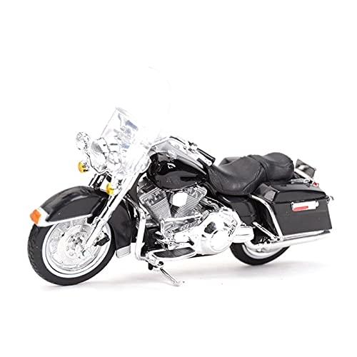 DSWS Motocicleta Miniatura 1:18 para FLHR 1999 Road King Diecast Aleación Motocicleta Modelo De Juguete Niños (Color : 2)