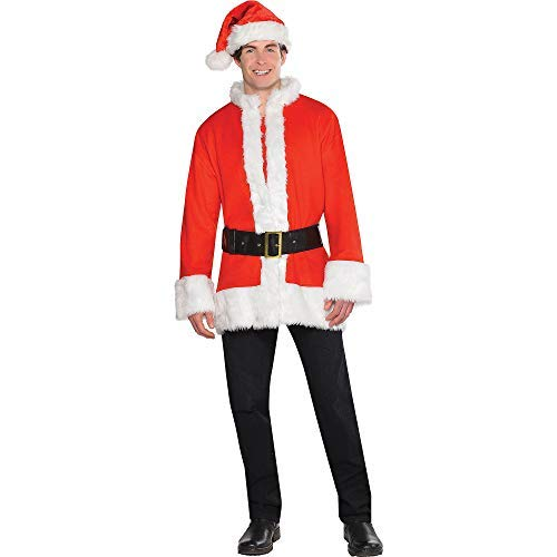 Amscan Santa Accessory Kit for Adults, Christmas Constume, Includes Belt and Jacket, One Size