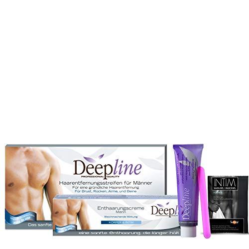 Deepline Haarentfernungscreme für den Mann. Lässt die Haut sanft, geschmeidig und seidig auch im Intimbereich (Deepline Set 1)