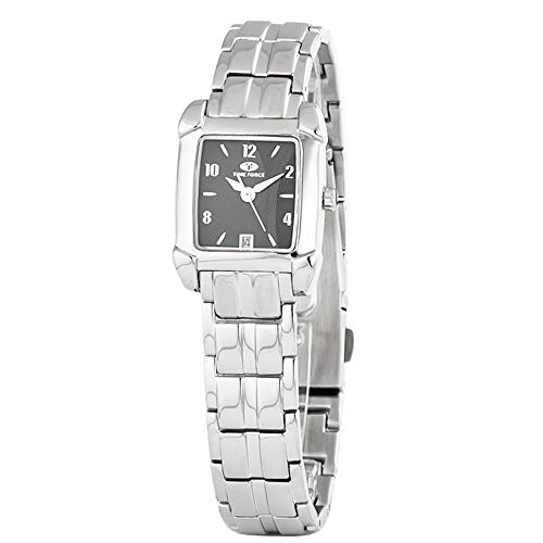 TIME FORCE Reloj Analógico para Mujer de Cuarzo con Correa en Acero Inoxidable TF2586L-01M