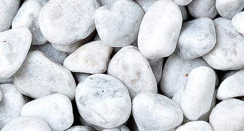 WUEFFE Ciottoli di Marmo Bianco Carrara - Sacchi da 25 kg - Sassi Bianchi Pietre Giardino (40/60 mm, 1 Sacco da kg.25)