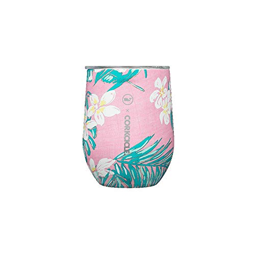 Corkcicle 12 oz Triple-Insulated Stemless (Perfect for Wine) (Pink)