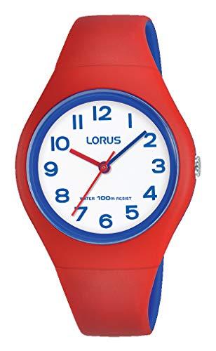 Lorus Kids Mädchen-Uhr Edelstahl und Kunststoff mit Silikonband RRX03GX9