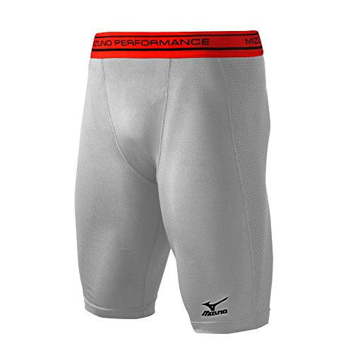 Mizuno 350540.9191.05.M Youth Elite Padded Sliding Short M Grey