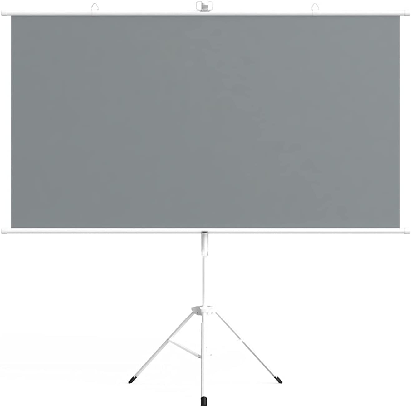 PHSH High-Definition Metal Projection Screen, Portable Screen, Can Be Wall-Mounted or Floor-to-Ceiling, Easy to Install and Operate, Suitable for Indoor and Outdoor Home Theater