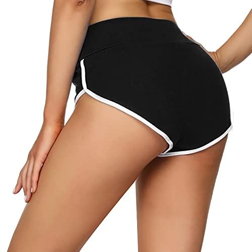 Wayleb Damen Sport Shorts Sexy Kurze Sporthose Mini Hotpants Yoga Shorts Sweatpants Lauf Fitness Jogginghose
