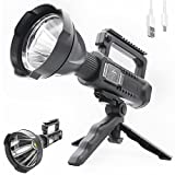Rechargeable LED Spotlight Flashlights,Super Bright 90000 High Lumens Handheld...