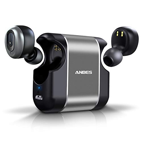 ANBES Wireless Earbuds Bluetooth 5.0 3D Stereo Deep Bass Sound Headphones 15H Playtime Noise Cancelling in-Ear Headset with Built-in Microphone Hands-Free Calls