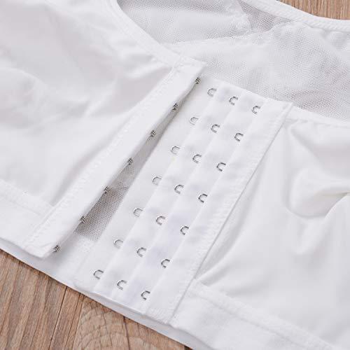 Women Wireless Back Support Bra Posture Corrector Bra for Women Yoga Sports Bra Underwear (White, 5XL)