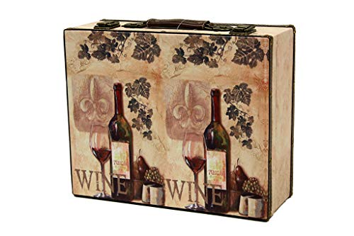 MIMBRE NATURAL Maleta Wine (37x30x14)