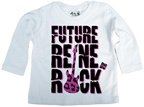 Dirty Fingers Future Reine du Rock T-Shirt bébé Manche Longue 12-18 Mois Blanc