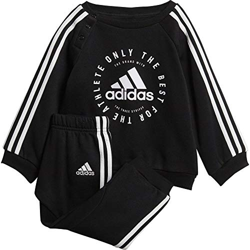 adidas Baby Fleece 3-Streifen Jogginganzug, Black/White, 80