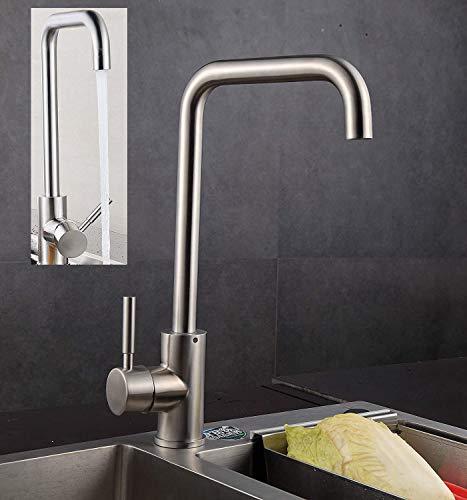 Wasserhahn Küchenarmatur 360° Schwenkbereich Armatur Küche, Spültischarmatur Edelstahl Spültisch Küchenhahn Spüle für Küchen, Einhebelmischer Spültischarmatur, Spültischbatterie für Spüle