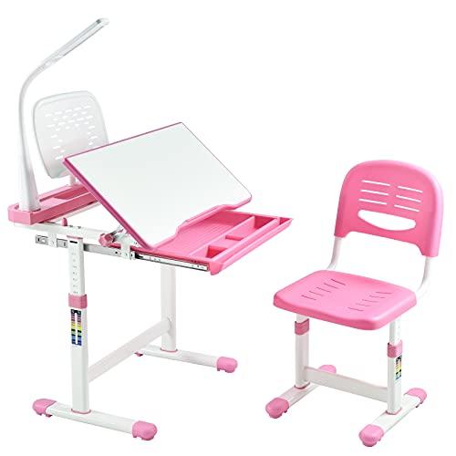 Juego de escritorio y silla para niños, escritorio para niños, mesa de...