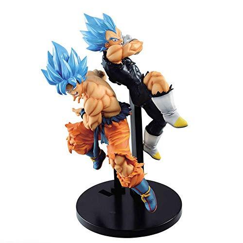 QINGLI Dragon Ball Super Blue Battaglia Son Goku Vegeta Action Figure Figma 20 Centimetri-Super Saiyan Man-Statua La Decorazione di Modello Anime Character Bambini Bambola Souvenir Collection Blue