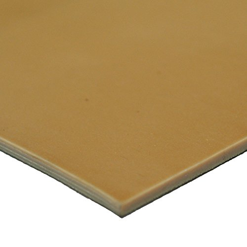 """Rubber-Cal Pure Gum Rubber - Commerical Grade - 40A - Rubber Sheet - Tan Gum in Color - 1/16"""" Thick x 3ft Width x 20ft Length"""