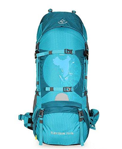 zaino trekking campeggio professionale trekking uomini zaino esterno e le donne viaggiano alpinismo borsa a tracolla impermeabile 70L Zaini da escursionismo ( Colore : Emerald , dimensioni : 75L )