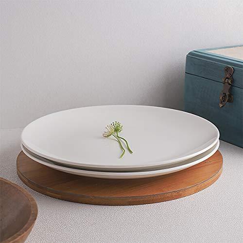 Homesake Ariane - Fine Porcelain Classic Urmi Full Dinner Plate, Set of 2, White