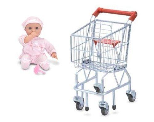 Melissa & Doug Shopping Cart and Baby Doll Jenna