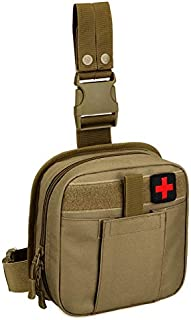 Tactical Drop Leg Pouch Bag-Individual First Aid Kit Tool Fanny Pack Utility Tool Pouch for Workplace Outdoors