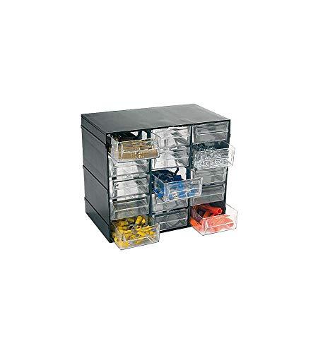 Art Plast Cassettiera portaminuterie, Nero, 228 x 140 x 190 mm