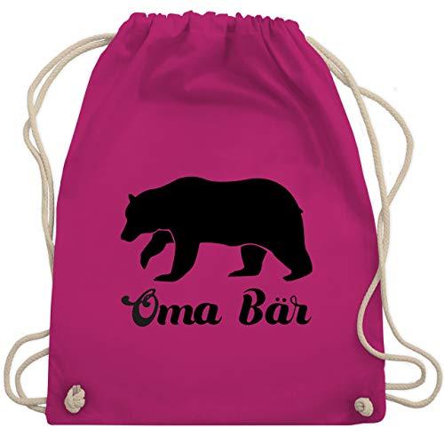 Shirtracer Oma - Oma Bär - Unisize - Fuchsia - Geschenk - WM110 - Turnbeutel und Stoffbeutel aus Baumwolle