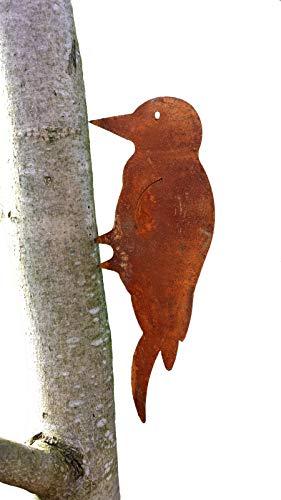 Unbekannt Specht; Baumstecker Specht; 30 cm; Metall/Rost; Gartendeko; Baumstecker