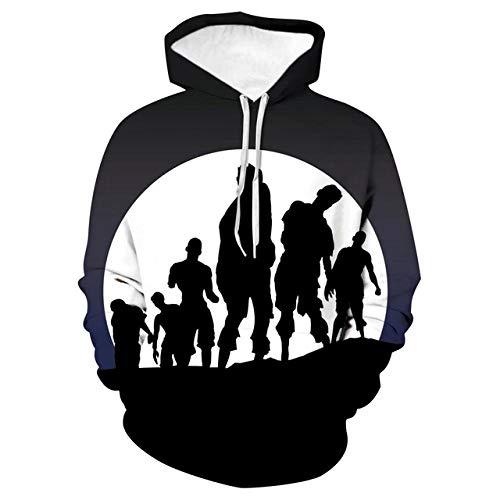 Loose Hooded Couple Shirt, Baseballbekleidung, Menschenmenge, M3D Print Hoodie,Long-Sleeved Hooded Top Sweatshirt with Pockets